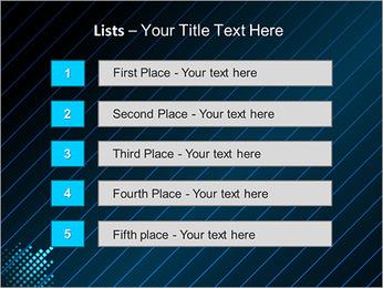 Bleu Couleur-Design Modèles des présentations  PowerPoint - Diapositives 3