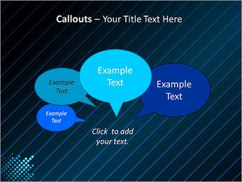 Bleu Couleur-Design Modèles des présentations  PowerPoint - Diapositives 53
