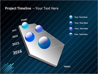Bleu Couleur-Design Modèles des présentations  PowerPoint - Diapositives 6
