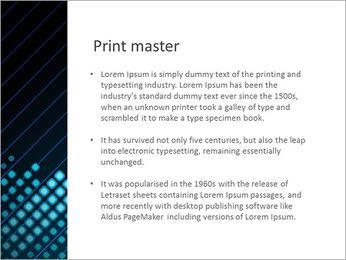 Bleu Couleur-Design Modèles des présentations  PowerPoint - Diapositives 76