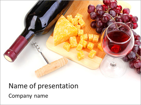 Wine cheese and grapes powerpoint template backgrounds id wine cheese and grapes powerpoint templates toneelgroepblik Image collections