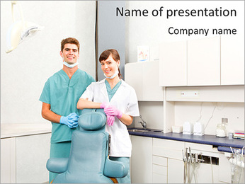 Two Physicians PowerPoint Template