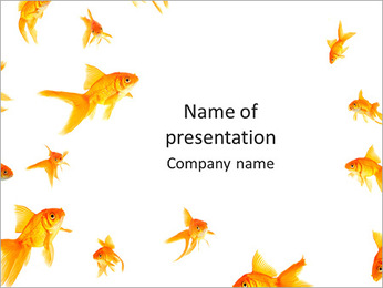 Decorative Golden Fish PowerPoint Template