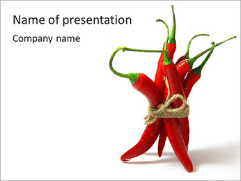 Bundle Of Chilies PowerPoint Template