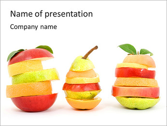 Creative Fruits Combination PowerPoint Template