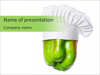 Sweet Green Pepper PowerPoint Template