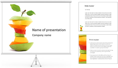 Fruit Composition PowerPoint Template