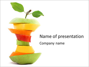Fruit Composition PowerPoint Template - Slide 1