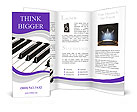 Piano Musical Instrument Brochure Templates