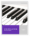 Piano Musical Instrument Word Templates