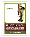 Saxophone Instrument Ad Template