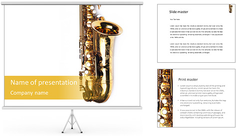 Saxophone Instrument PowerPoint Template