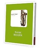 Saxophone Instrument Presentation Folder