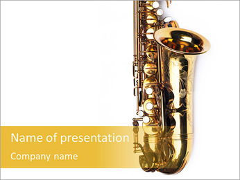 Saxophone Instrument PowerPoint Template - Slide 1