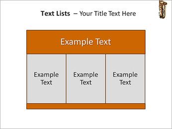 Saxophone Instrument PowerPoint Template - Slide 39