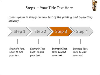 Saxophone Instrument PowerPoint Template - Slide 4