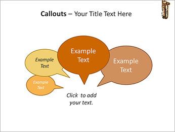 Saxophone Instrument PowerPoint Template - Slide 53