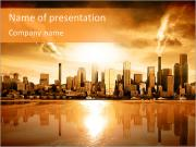 City At Sunset PowerPoint Templates