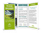 Windmill In Countryside Brochure Templates