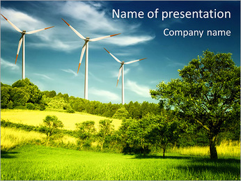 Windmill In Countryside PowerPoint Template