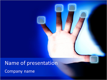 Touch screen interface powerpoint template, backgrounds & google.