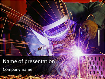Welder At Work PowerPoint Template