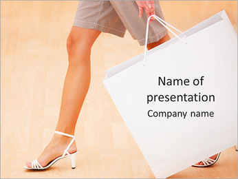 Shopping As Hobby PowerPoint Template