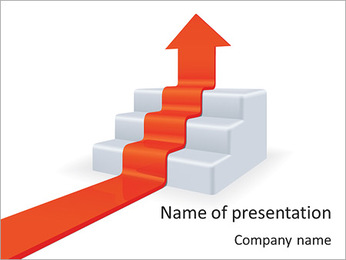 Arrow Shows Growth PowerPoint Template