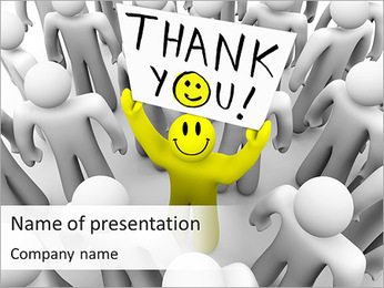 Thank You Note PowerPoint Template - Slide 1
