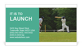 Popular Cricket Game Business Card Template