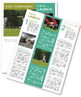 popular cricket game newsletter template design id 0000003863. Black Bedroom Furniture Sets. Home Design Ideas