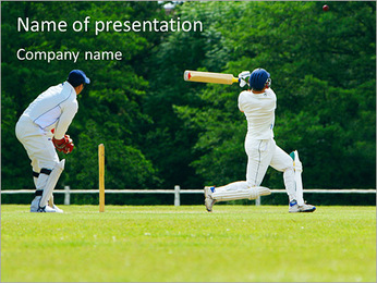 Popular Cricket Game PowerPoint Template