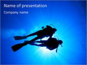 Diver In The Sea PowerPoint Templates