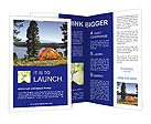 Tent Near Lake Brochure Templates