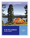 Tent Near Lake Word Templates