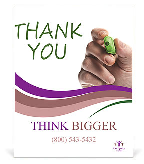 written thank you note poster template design id 0000003875