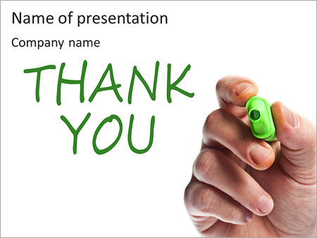 Written Thank You Note Powerpoint Template Backgrounds Id