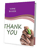 Written Thank You Note Presentation Folder