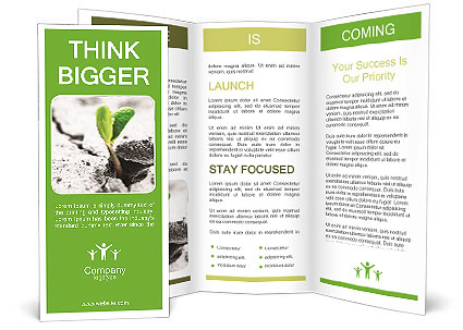 Small green plant brochure template design id 0000003879 for Small brochure template