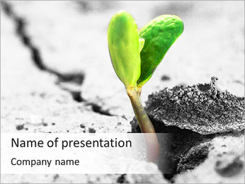 Small Green Plant PowerPoint Template