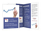 Blue Arrow Chart Brochure Templates