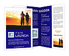 Couple Jogging At Sunset Brochure Templates