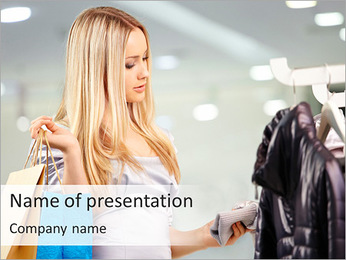 Shopping In Mall PowerPoint Template