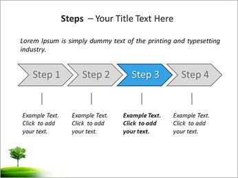 Un seul arbre dans la vallée Modèles des présentations  PowerPoint - Diapositives 4