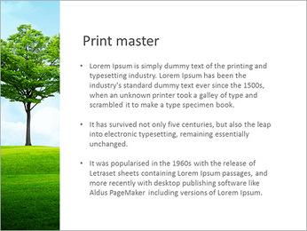 Un seul arbre dans la vallée Modèles des présentations  PowerPoint - Diapositives 76