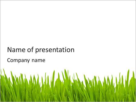 green grass powerpoint template backgrounds google slides id