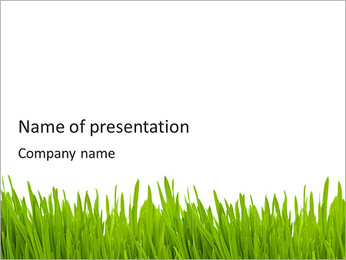 Green Grass PowerPoint presentationsmallar