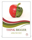 Combination Of Apple And Pepper Poster Template