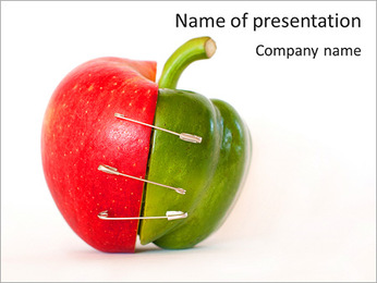 Combinaison d'Apple et de poivre Modèles des présentations  PowerPoint