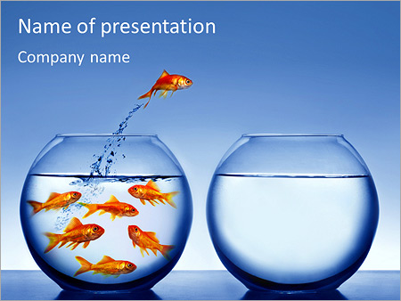 aquarium with fish powerpoint template & backgrounds id 0000003916, Modern powerpoint